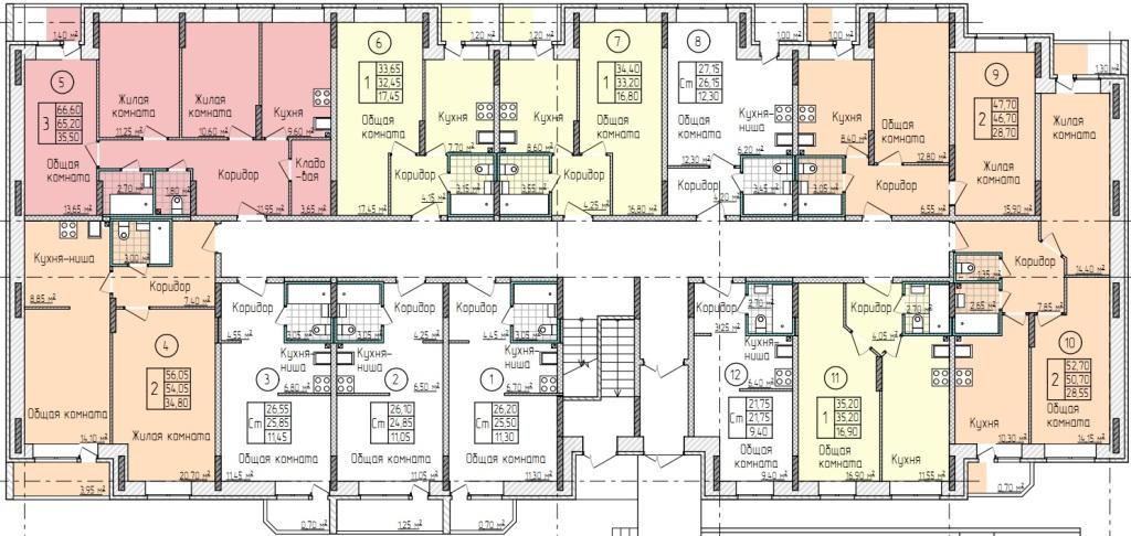 Планировки 1-го этажа