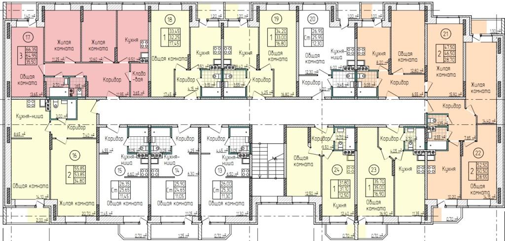 Планировки 2-го этажа